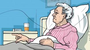 Eine Patientin mit fortgeschrittenem Parkinson-Syndrom