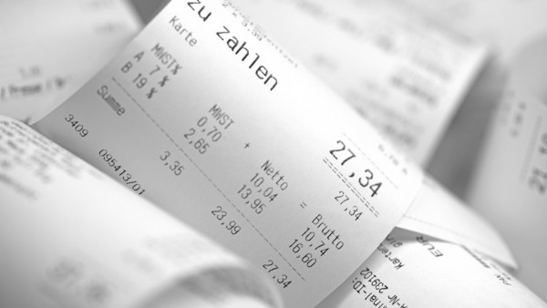 Verbraucher lehnen die Bonpflicht mehrheitlich ab