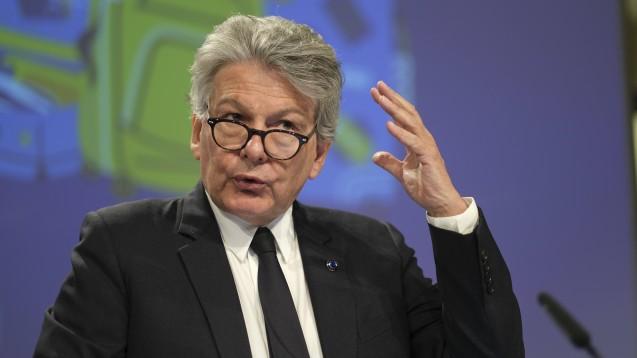Binnenmarktkommissar Thierry Breton hat an Jens Spahn geschrieben. Zumindest macht er dem Minister beim VOASG keinen Strich durch die Rechnung – ob er es für europarechtskonform hält, lässt er allerdings offen. (Foto: imago images / Le Pictorium)
