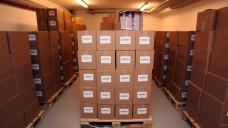 Für möglichen Störfall im Atomkraftwerk Biblis: Im ehemaligen Atomschutzbunker der rheinland-pfälzischen Regierung lagern Kaliumiodid-Tabletten. (Foto: picture alliance / dpa)
