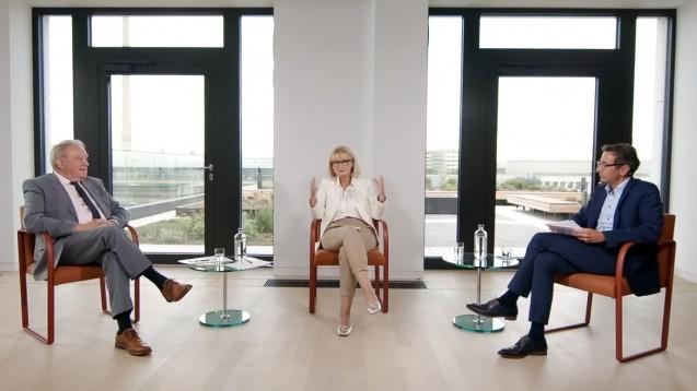 """Fritz Becker, Karin Maag und Reiner Kern sprachen im ersten ABDA-Talk """"Lass uns reden"""" über das VOASG. (m / Screenshot: youtube)"""