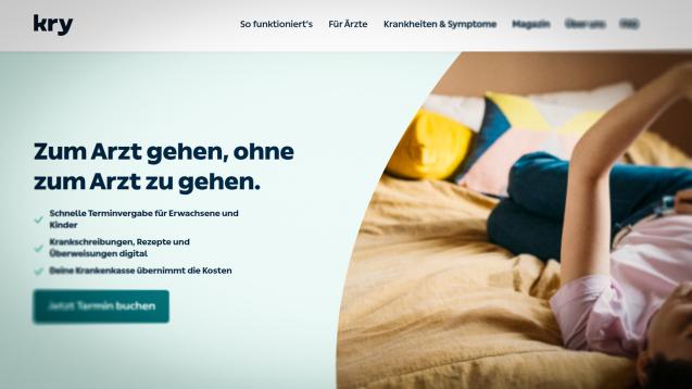 Das schwedische Unternehmen Kry arbeitet künftig mit Apologistics zusammen. (Screenshot: kry.de)