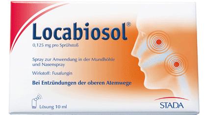 Noch bis zum 28. Mai verkehrsfähig: Locabiosol. (Foto: Stada)