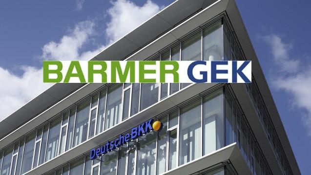 Der Kostendruck war Treiber der Fusion: Die Barmer GEK schluckt die Deutsche BKK? (Bild/Logo: Deutsche BKK, Barmer GEK, Montage: DAZ)
