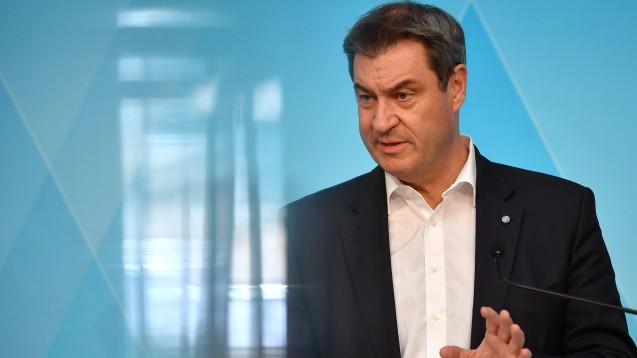 Bayerns Ministerpräsident Markus Söder (CSU) sieht auch Apotheken als Ort, an dem künftig COVID-19-Impfungen erfolgen können. (Foto: IMAGO / Sven Simon)