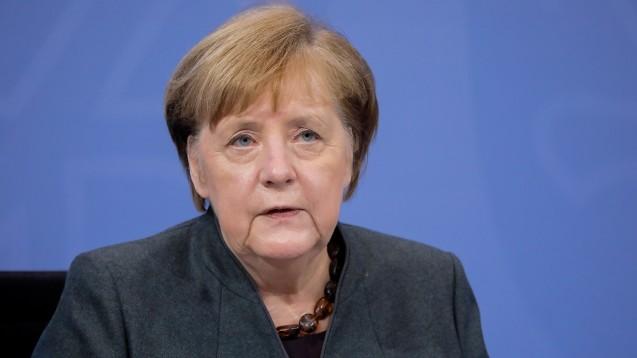 Bundeskanzlerin Angela Merkel: Noch ist eine weitere finanzielle Unterstützung für die Anschaffung von FFP2-Masken kein Thema für sie. (Foto: imago images / Poolfoto)