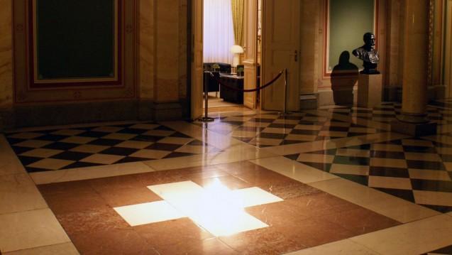 Der Eingang zum Bundesratssitzungszimmer in Bern. (Foto:Sandstein / Wikipedia, CC BY 3.0)