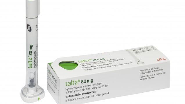 Neues Arzneimittel bei Schuppenflechte: Ixekizumab (Taltz) hemmt Interleukin-17A. (Foto: Lilly)