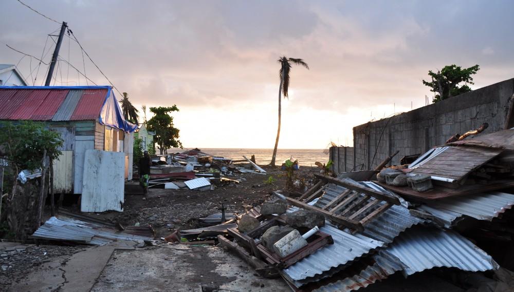 """Auf dem karibischen Inselstaat Dominica richtete der Hurrikan """"Maria"""" im Herbst vergangenen Jahres große Verwüstungen an."""