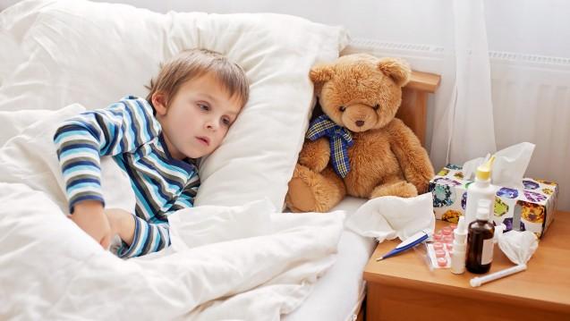 Viele Kinder müssen derzeit das Bett hüten. (Foto: Tomsickova / Fotolia)