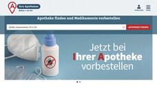 Seit mehr als zwei Jahren läuft die Apothekenplattform IhreApotheken.de (ia.de). Mehr als 7.000 Apotheken bieten über die Plattform Arzneimittel und weitere apothekenübliche Produkte an.(b/Screenshot: DAZ / ihreapotheken.de)