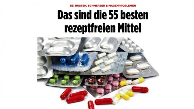 Die Bild stellt die besten rezeptfreien Mittel vor, ermittelt von Stiftung Warentest. (Foto: Screenshot)