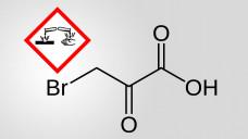 3-Brompyruvat ist das bromierte Derivat der Brenztraubensäure.