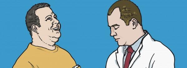 Ein Patient mit Spondylitis ankylosans