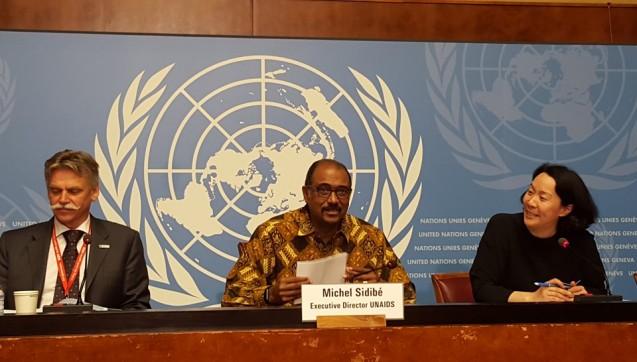 Er schlägt Alarm:UNAIDS-Direktor Michel Sidibé bei der Vorstellung der neuen Zahlen. (Foto: UNAIDS)