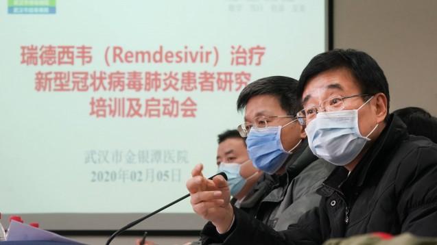 Am Donnerstag teilte die offizielle Nachrichtenagentur Xinhua mit, dass bald klinische Studien mit Remdesivir von Gilead in China beginnen sollten.(m / Foto: imago images / Xinhua)