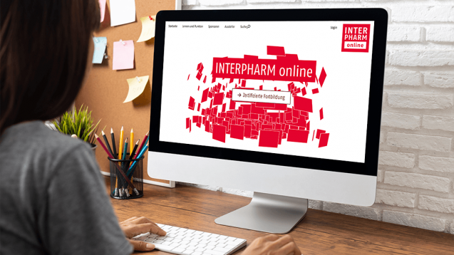 Nach einer erfolgreichen INTERPHARM online in diesem Jahr, findet auch 2021 die INTERPHARM als Video-Livestream statt. Grund ist Corona. (s / Foto: Foto / Screenshot: suriya / stock.adobe.com / interpharm.de)