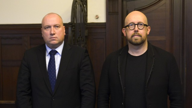 Rechtsanwalt Carsten Wegner und sein Mandant Thomas Bellartz: Beim nächsten Termin ist ihr Plädoyer an der Reihe. ( r / Foto: Külker)