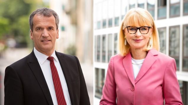 Michael Hennrich möchte den Apothekern auch in der nächsten Legislaturperiode erhalten bleiben – Karin Maag hat ihr Mandat bereits niedergelegt und ist jetzt ein der Unparteiischen beim G.-BA. (Fotos: michael-hennrich.de   gba.de)