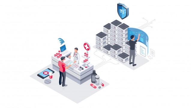 Auch wenn der Konnektor nicht in der Apotheke steht, sondern wie beim Modell von Red Medical in einer sogenannten Konnektorenfarm, gilt die Refinanzierungsvereinbarung mit den Krankenkassen. (s / Foto: Screenshot DAZ.online / Red Medical)