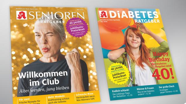 Zwei runde Geburtstage feiert derWort & Bild im Mai: Diabetes- und der Senioren Ratgeber werden 40 Jahre alt. (Foto:Wort & Bild)