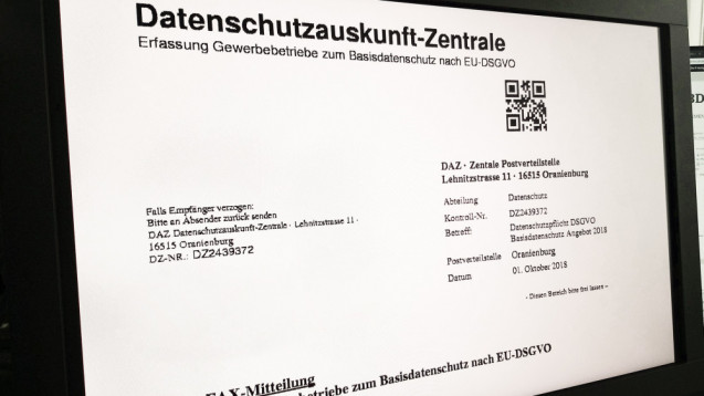 Viele Freiberufler und Gewerbetreibende erhielten in den vergangenen Tagen ein solches Fax. ( R / Quelle: DAZ.online)
