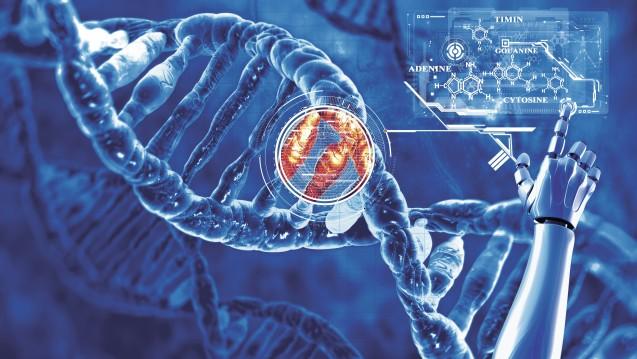 """Die Genschere """"CRISPR/CAS 9"""" erlaubt einfache Eingriffe ins Genom. (Foto: vitstudio / Fotolia)"""