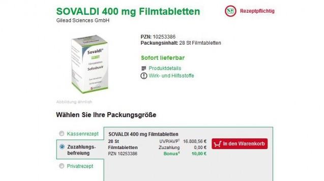 Auch Patienten, die von der Zuzahlung befreit sind, erhalten einen Bonus. (Foto: Screenshot / DAZ)