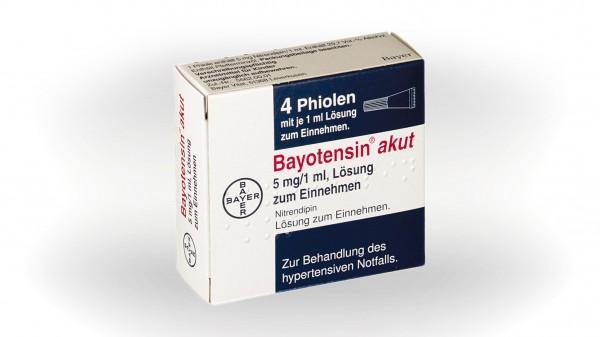Bayer stellt Vertrieb von Bayotensin akut ein