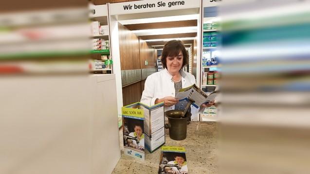 Susanne Scior-Busch ist mit der Astoria-Apotheke zum wiederholten Male mit von der Partie, wenn es anlässlich der Fairen Woche Walldorf wieder heißt: Ganz schön fair! (Foto: Astoria-Apotheke, Walldorf)