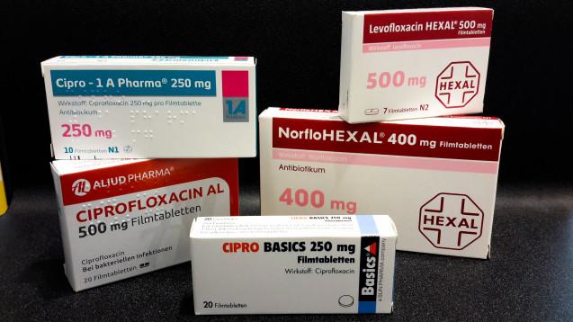 Nicht in allen Anwendungsbereichen weisen Fluorchinolone ein negatives Nutzen-Risiko-Profil auf. (m / Foto: Schwanen Apotheke, Stuttgart)