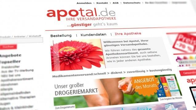 Die DocMorris-Mutter Zur Rose hat die Versand- und Diabetes-Aktivitäten von Apotal übernommen – eine ganze Apotheke darf sich die Aktiengesellschaft nach deutschem Recht nicht einverleiben. (x / Foto: Screenshotshop.apotal.de)