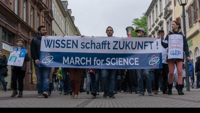 In Heidelberg zog sich ein Demonstrationszug durch die Altstadt. (Foto: kraemerjona@gmail.com)
