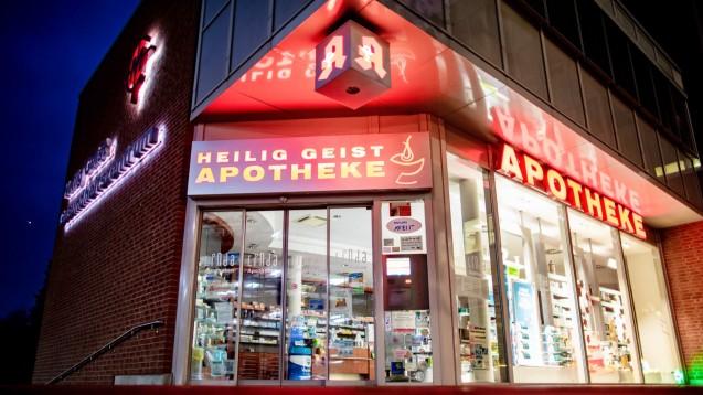 """Drei Kölner Apotheken mussten letzte Woche schließen: Warum der Kölner Stadtanzeiger am Samstag von einem """"Versorgungsnotstand"""" schrieb, liegt an den Versorgungsverträgen, die zwischen Apotheken und Pflegeheimen geschlossen werden.(Foto: picture alliance / Marcel Kusch / dpa)"""
