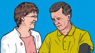 Ein Patient mit Hypertonie