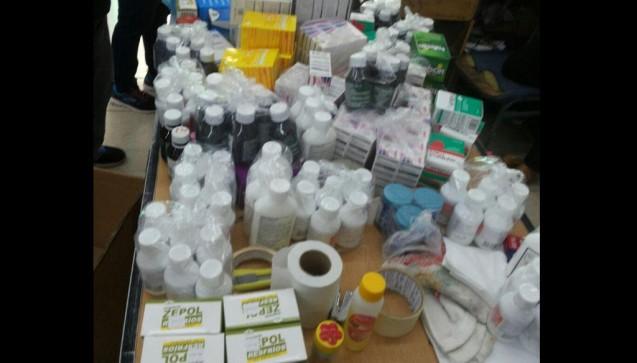 Einige der illegalen Arzneimittel.