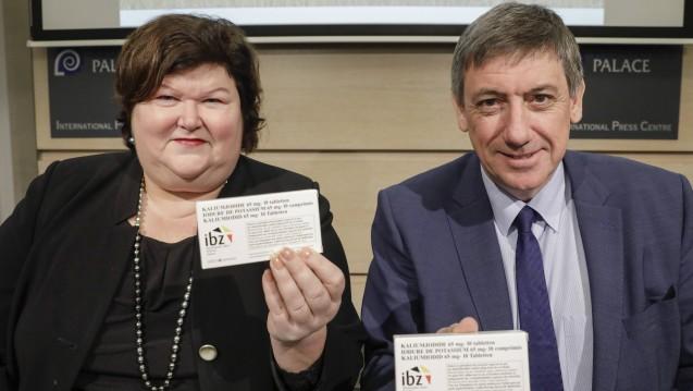 Die belgische Gesundheitsministerin Maggie De Block und der Innenminister Jan Jambon haben einen neuen Notfallplan für nukleare Vorfälle vorgestellt. (Foto: Imago)