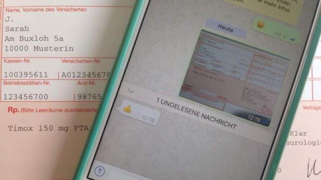 WhatsApp-Vorbestellung in der Apotheke: bequem aber rechtlich riskant. (Foto: DAZ.online)