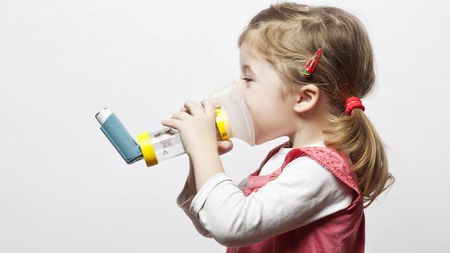 Bei Kindern unter fünf Jahren sollen grundsätzlich Treibgasdosieraerosole mit Spacer bevorzugt werden. Sobald wie möglich wird die Gesichtsmaske aber durch ein Mundstück ersetzt.(Foto:Miroslav Beneda / stock.adobe.com)