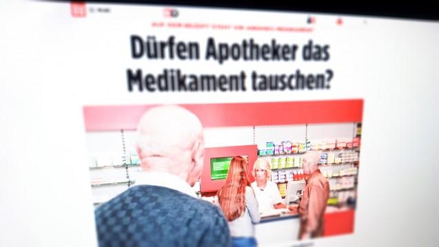 Die Bild-Zeitung erklärt ihren Lesern, warum sie nicht immer das Mittel bekommen, das namentlich auf dem Rezept verordnet ist. (s / Foto: Screenshot Bild.de)
