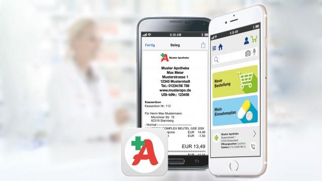 """Pharmatechnik ist eigenen Angaben zufolge bestens vorbereitet auf die neuen Vorgaben für elektronische Kassensysteme. Mithilfe der App """"Meine Apotheke"""" gibt es auch einen digitalen Kassenbon. (b / Foto: Pharmatechnik)"""