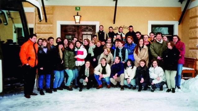 20 Jahre Winterschule. Hier ein Gruppenbild des Jahrgangs 1999 (Foto: Zündorf)