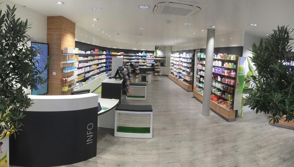 Das neue Offizin:Nun treffe die Tradition der Hubertus-Apotheke als älteste der Stadt und ihr Geist auf die Moderne, sagt ApothekerinPetra Schultz.