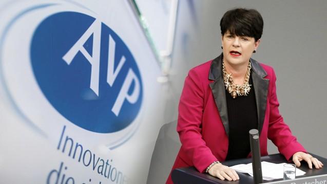 Die gesundheitspolitische Sprecherin der FDP-Fraktion im Bundestag, Christine Aschenberg-Dugnus, lässt beim Thema AvP-Insolvenz nicht locker. (p / Foto: picture alliance / Marcel Kusch | imago images / Metodi Popow)