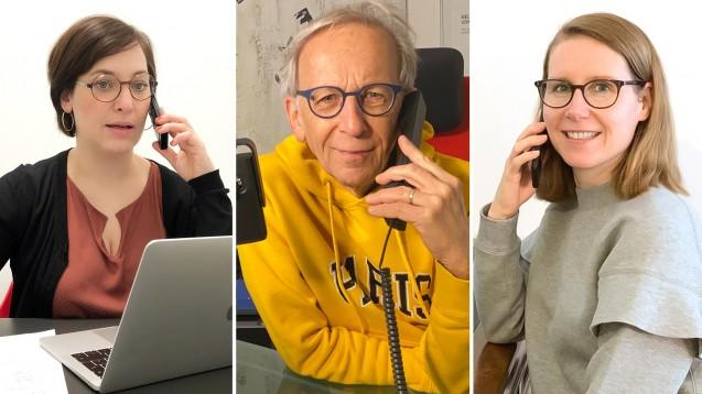 """Dr. Ina Lucas, Peter Ditzel und Maria Zoschke tauschen sich im Podcast zum Thema """"Test-Management-Software"""" aus. (Fotos: privat)"""