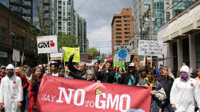 "Jährlich findet der ""March against Monsanto"" statt, hier 2013 in Vancouver. (Foto: Rosalee Yagihara / Wikipedia.org, CC BY 2.0)"