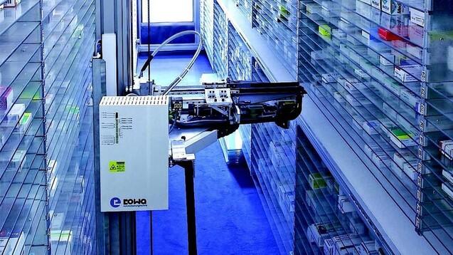 Der Automatenhersteller BD Rowa bietet seinen vom Hochwasser betroffenen Kunden Leihkommissionierer an. (c / Foto: Rowa)