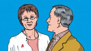 Ein Patient mit Harnwegsinfekt