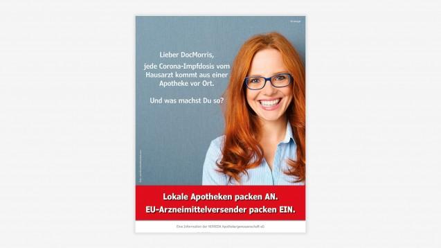"""Die Apothekergenossenschaft Noweda wirbt nun auch im Nachrichtenmagazin """"Focus"""" für mehr Anerkennung für die Leistungen der Offizinen. (Bild: Noweda)"""