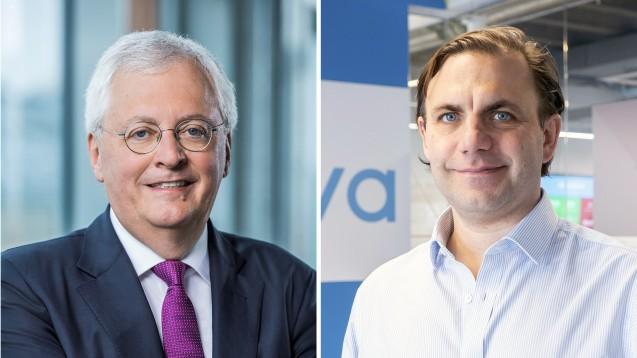 Noventi-Chef Dr. Hermann Sommer und Zava-CEO David Meinertz haben eine Kooperation geschmiedet. Doch aufgrund der anhaltenden Kritik an der britischen Online-Arztpraxis stellt sich die Frage, wie gewinnbringend die Zusammenarbeit für die Apotheker ist. (s / Foto: Zava/Noventi)